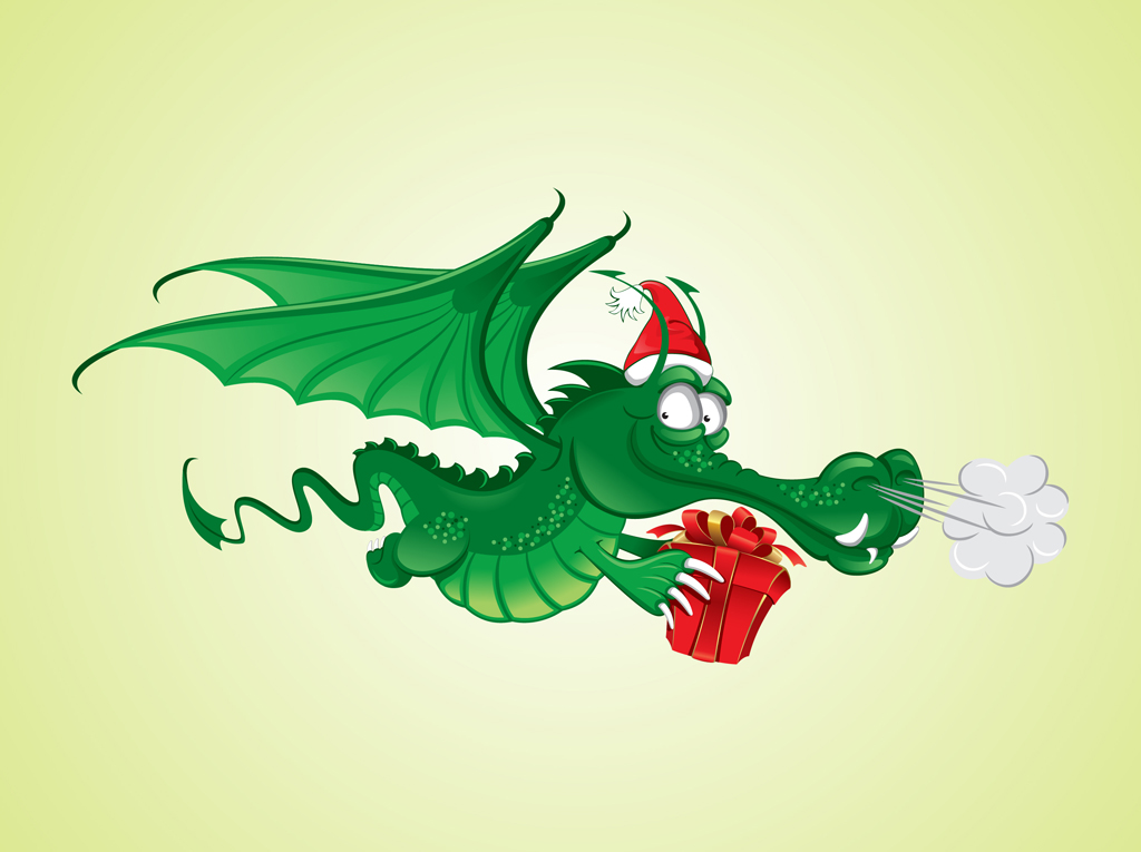 Vector-Christmas-Dragon